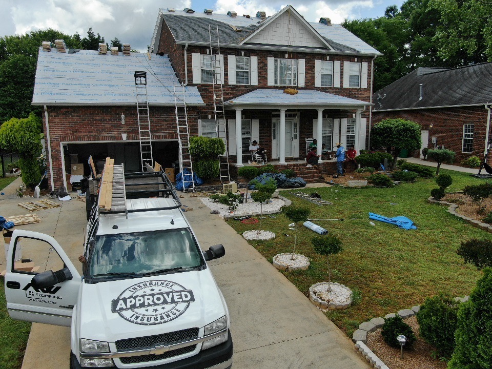 A project being overseen by our roofing contractor in Winston-Salem, NC